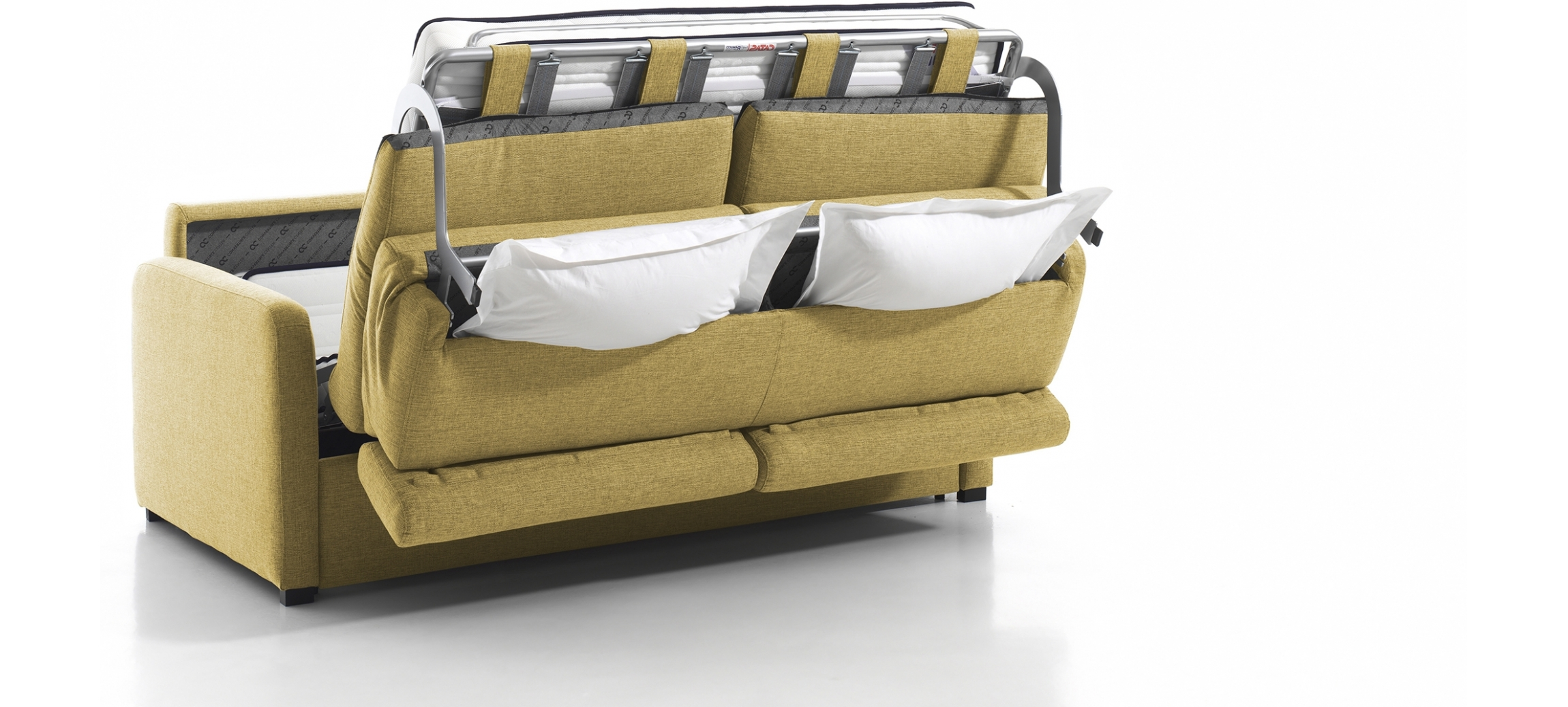 canap 4 places convertible forli avec matelas 160cm. Black Bedroom Furniture Sets. Home Design Ideas